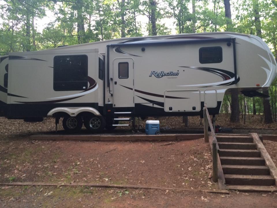 Full Time RV Living Campsite