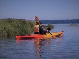 Kayaking with Dog in Hood Canal
