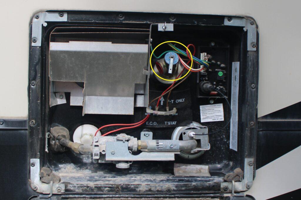 RV Water Heater Pressure Valve