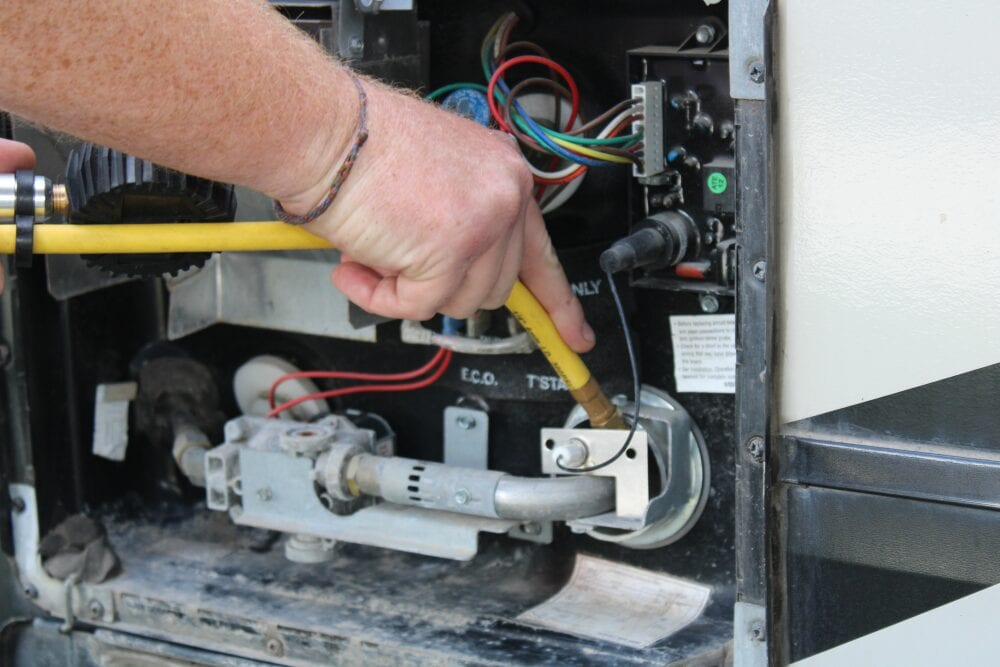 Cleaning Debris from RV Water Heater