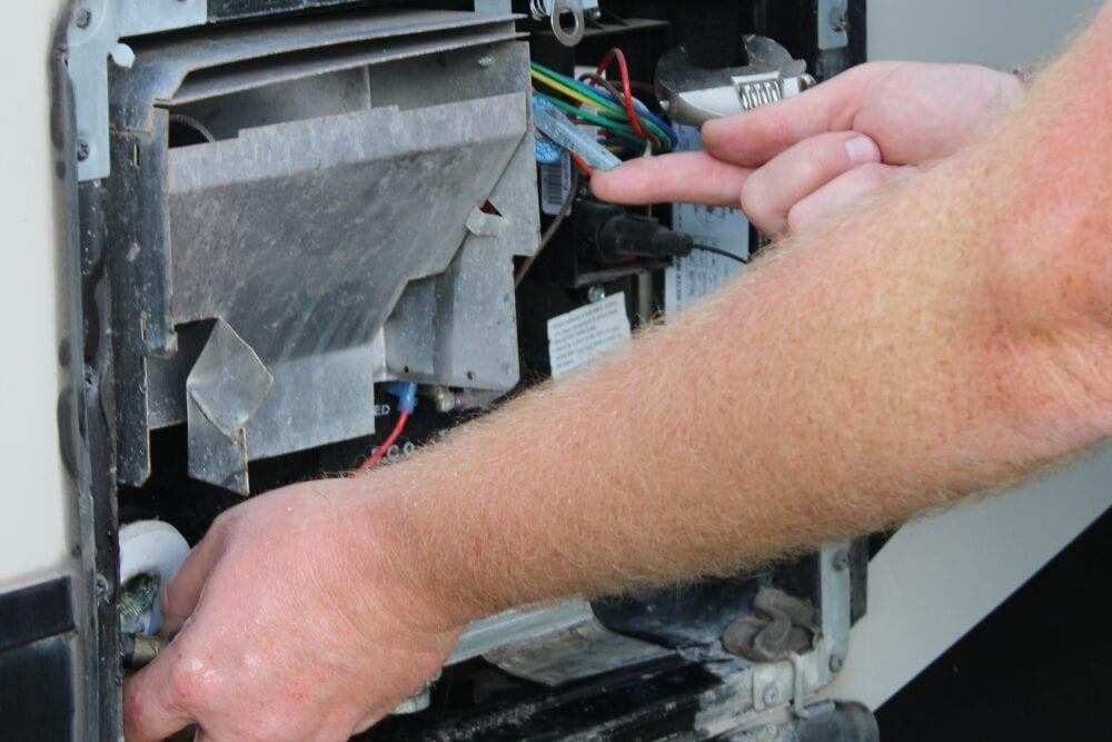 Draining RV hot water heater
