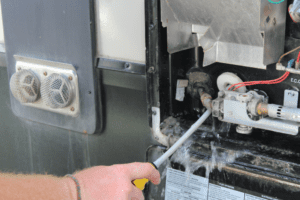 Cleaning RV Water Heater