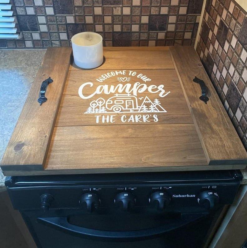 RV stove cover