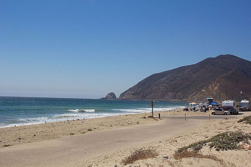 RV Beach Campground in California