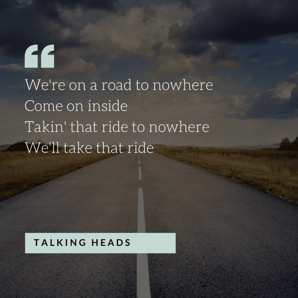 Quote from road trip song