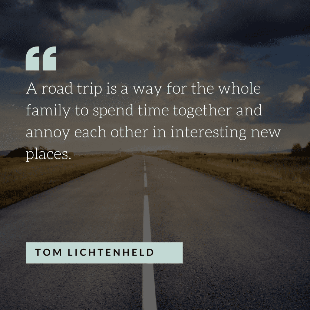 Funny road trip quote