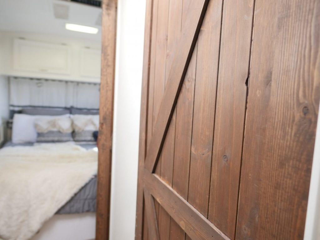 Barn door in RV
