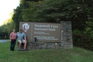 Mammoth Cave NP Park Sign