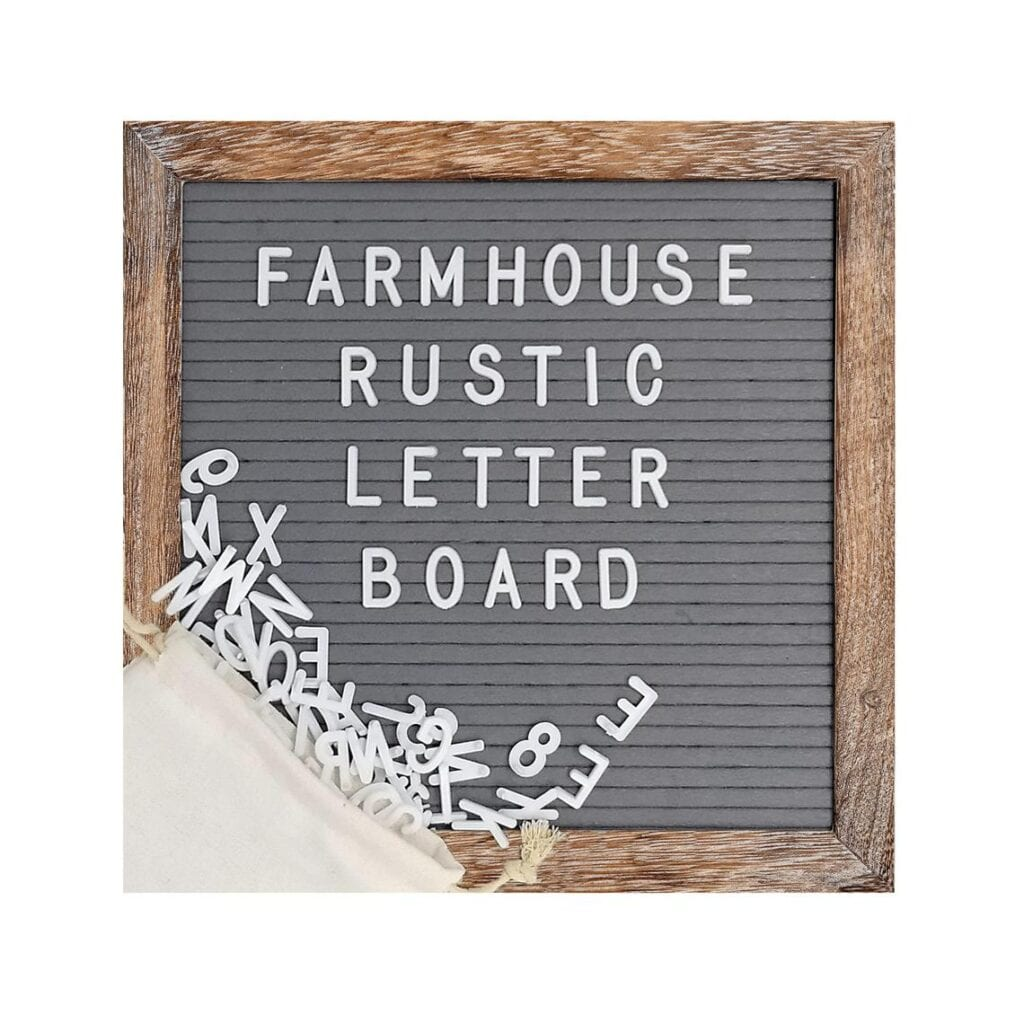 Modern RV décor letter board