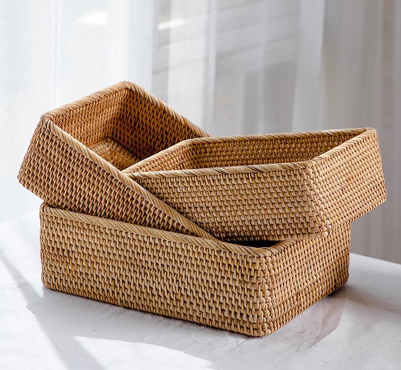 Modern décor RV baskets