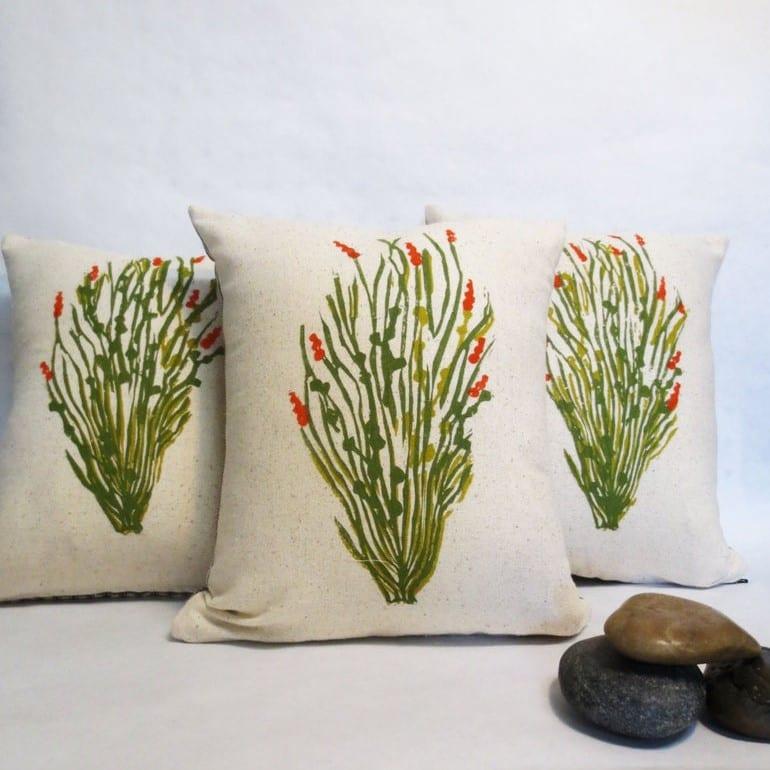 Throw pillows modern RV décor
