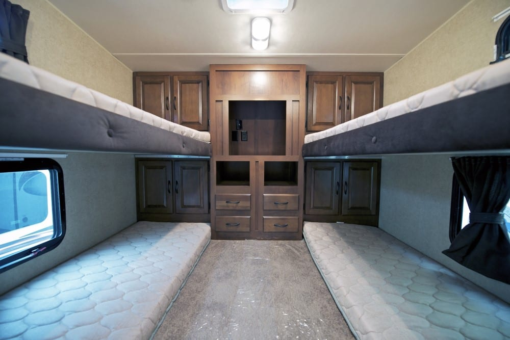Class C with Bunk Beds Rear Bedroom