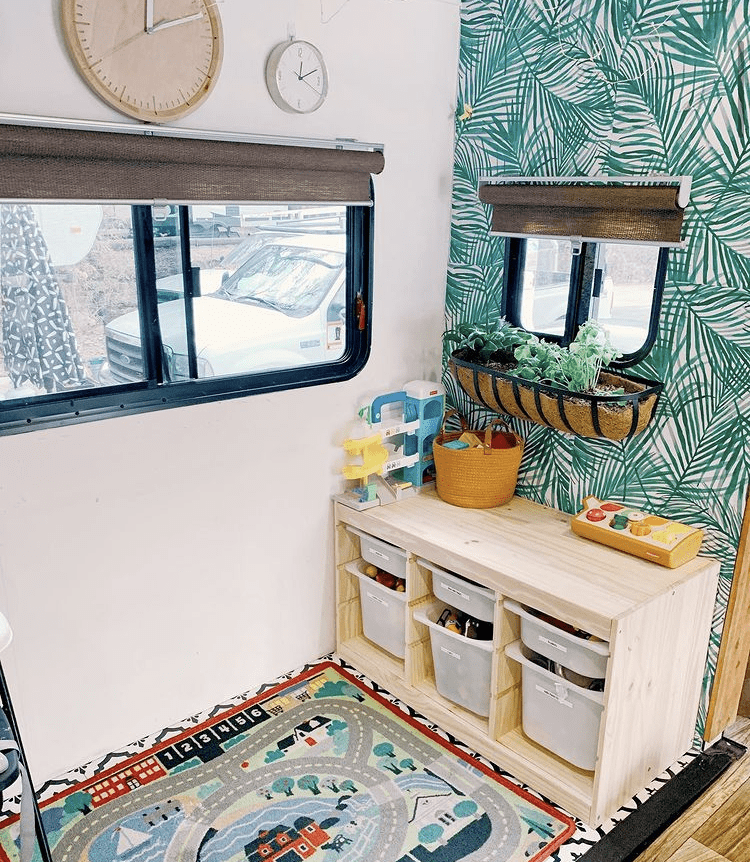 RV slide out area
