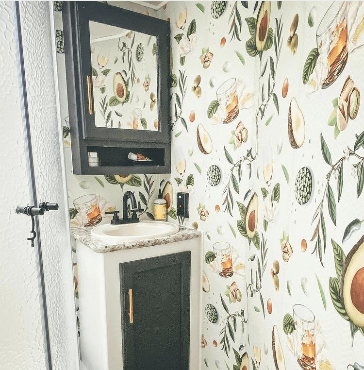 RV bathroom wallpaper