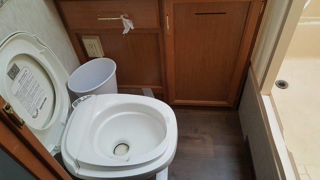 RV Toilet leading to Black Tank