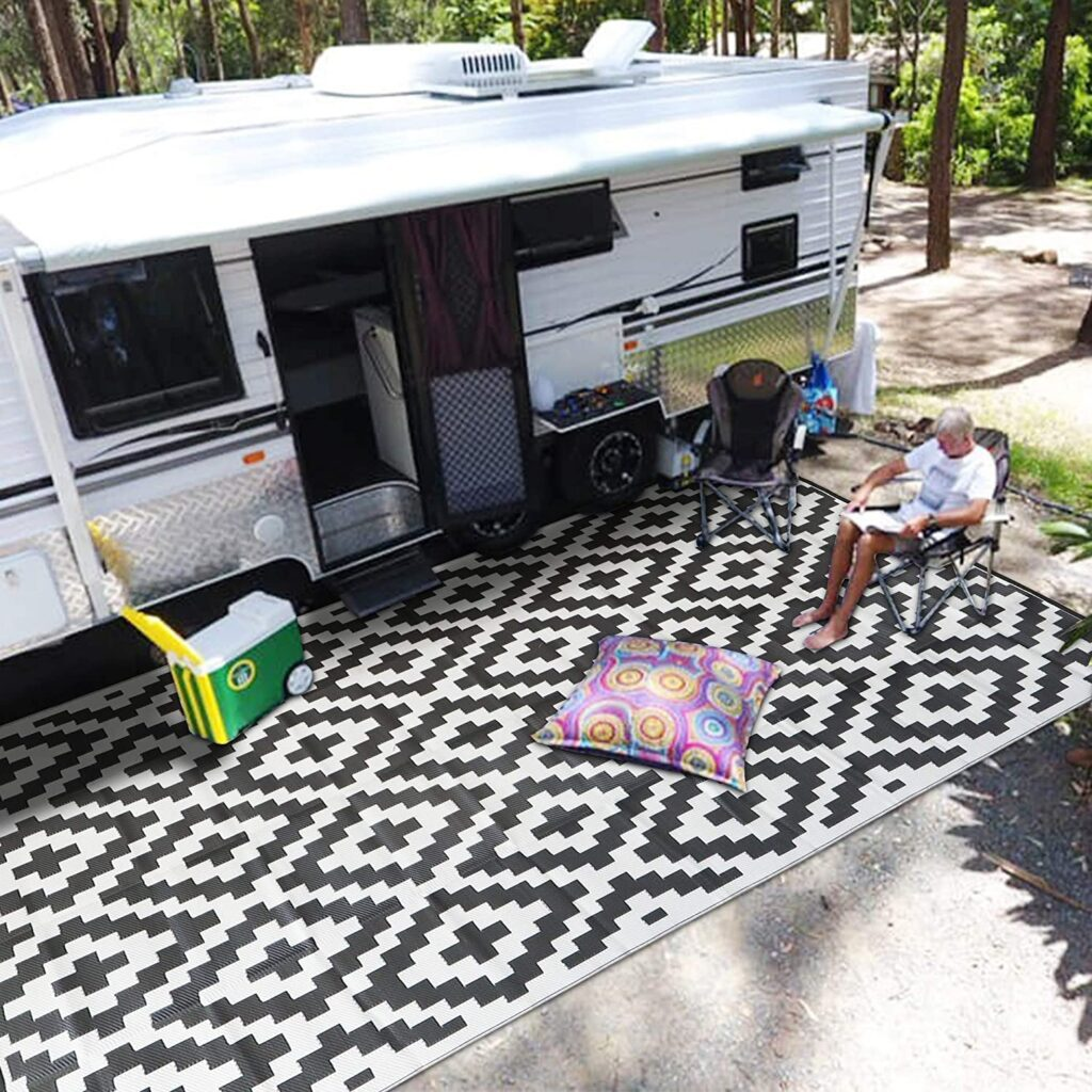 RV Camping Trailer Mat and Accessories