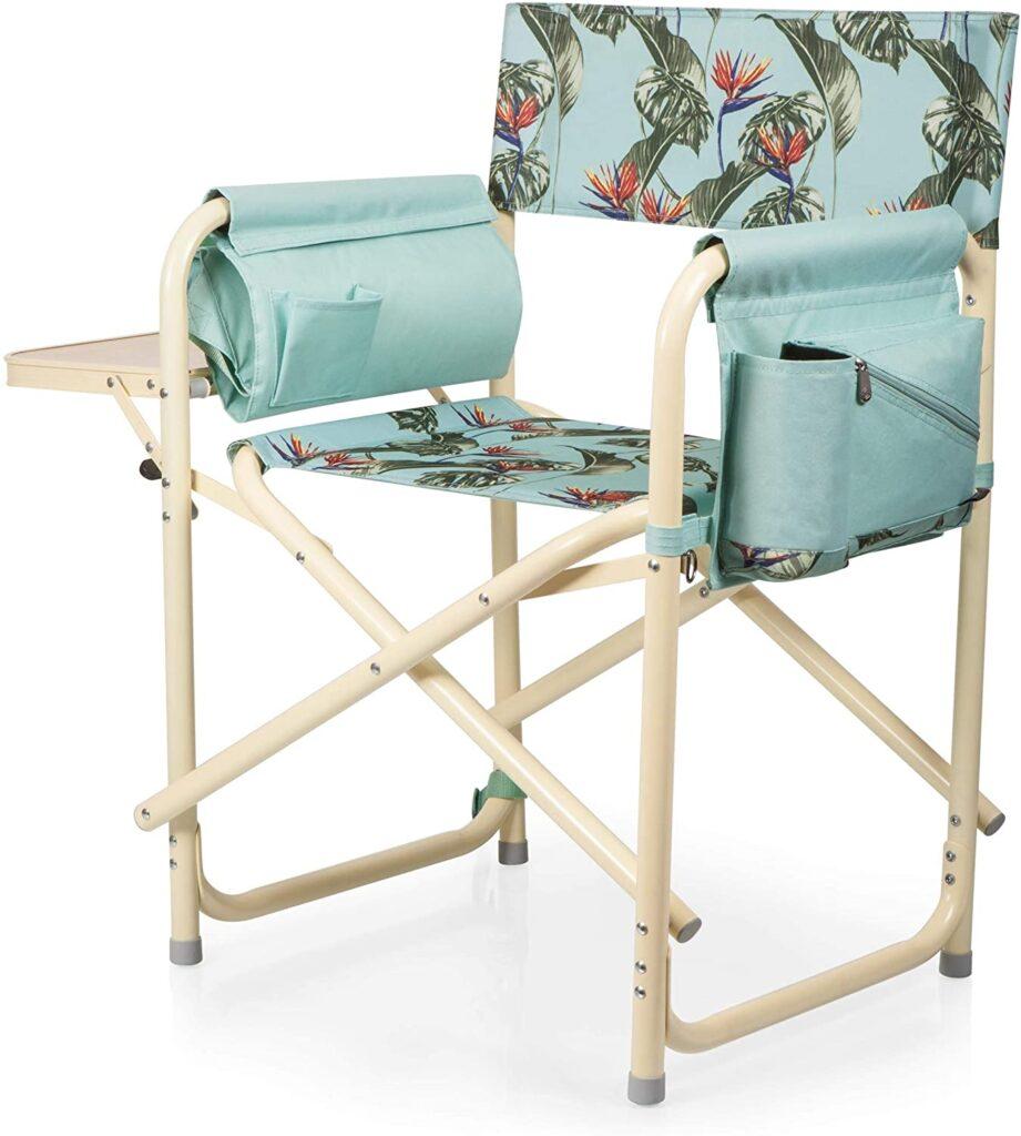 Floral print campsite chair