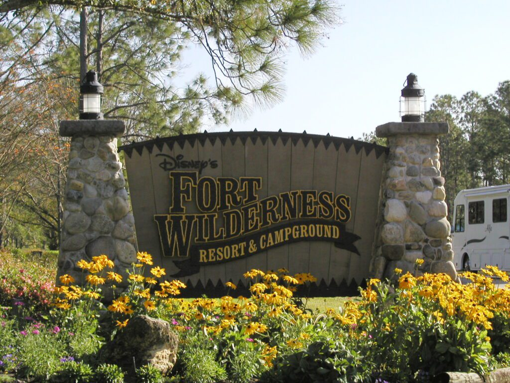 Entrance sign at one of the Best Campgrounds in Florida for Families