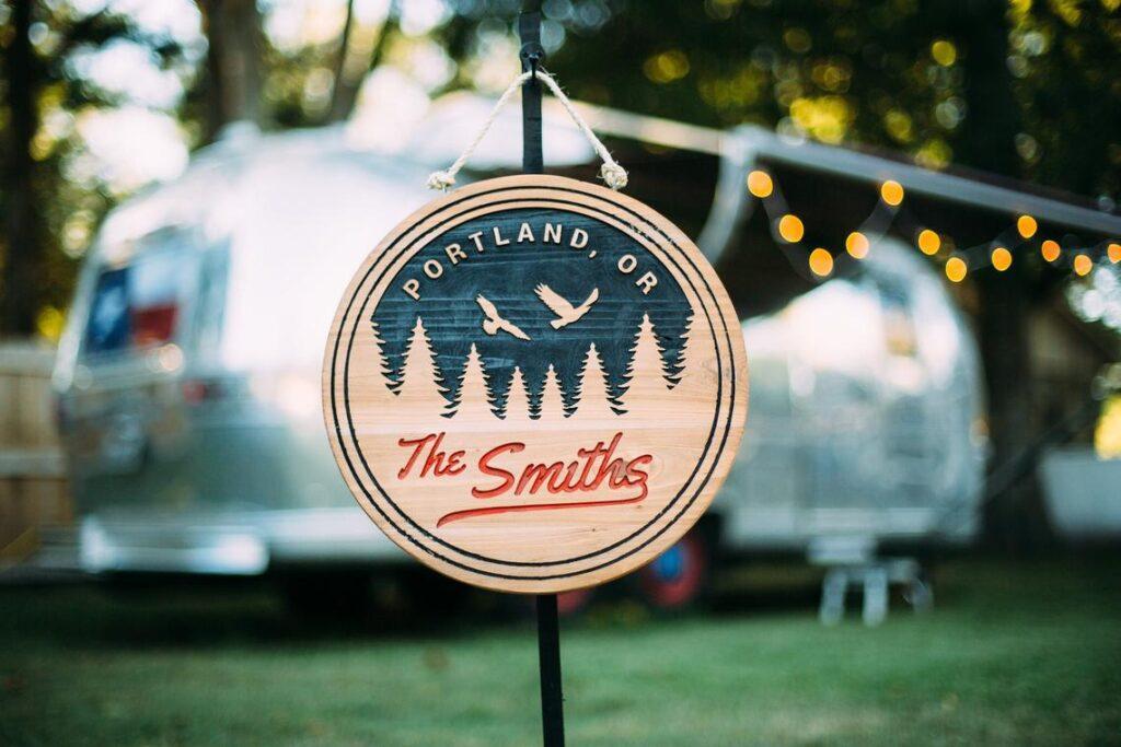 Custom campsite sign