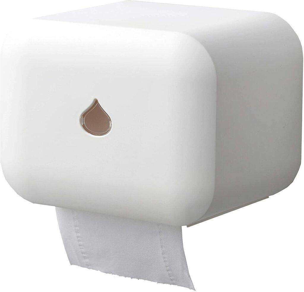 Wet bath RV toilet paper holder