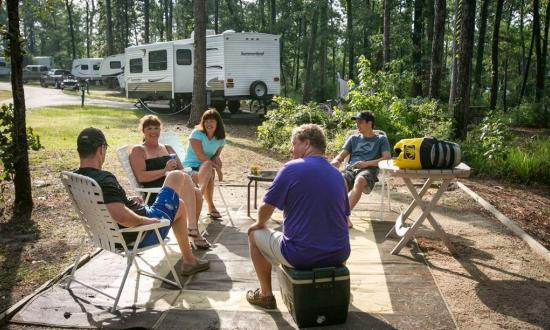 RV Camping at Louisiana State Park
