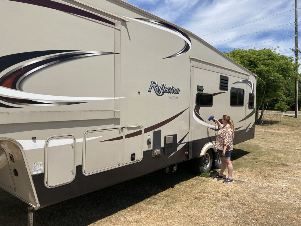 How to Remove RV Decals using a Hair Dryer