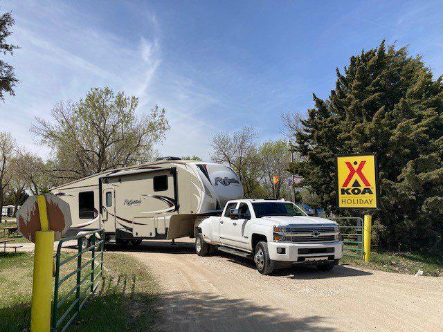 KOA sign Best RV Parks in Kansas