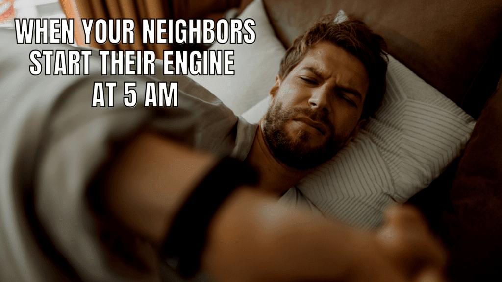 Funny RV Camping Meme: Alarm