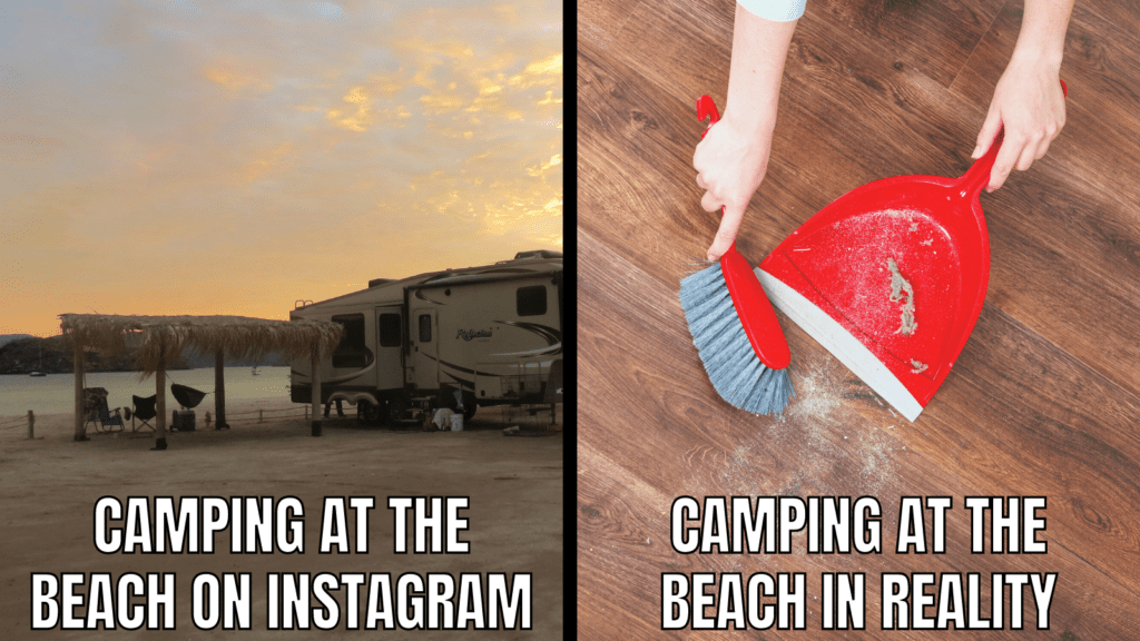 Funny RV Camping Meme: Beach Camping