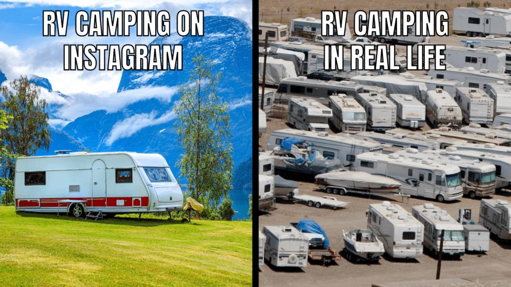Funny RV Camping Memes: Instagram vs. Reality