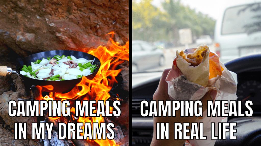 Funny RV Camping Memes: Camping Meals