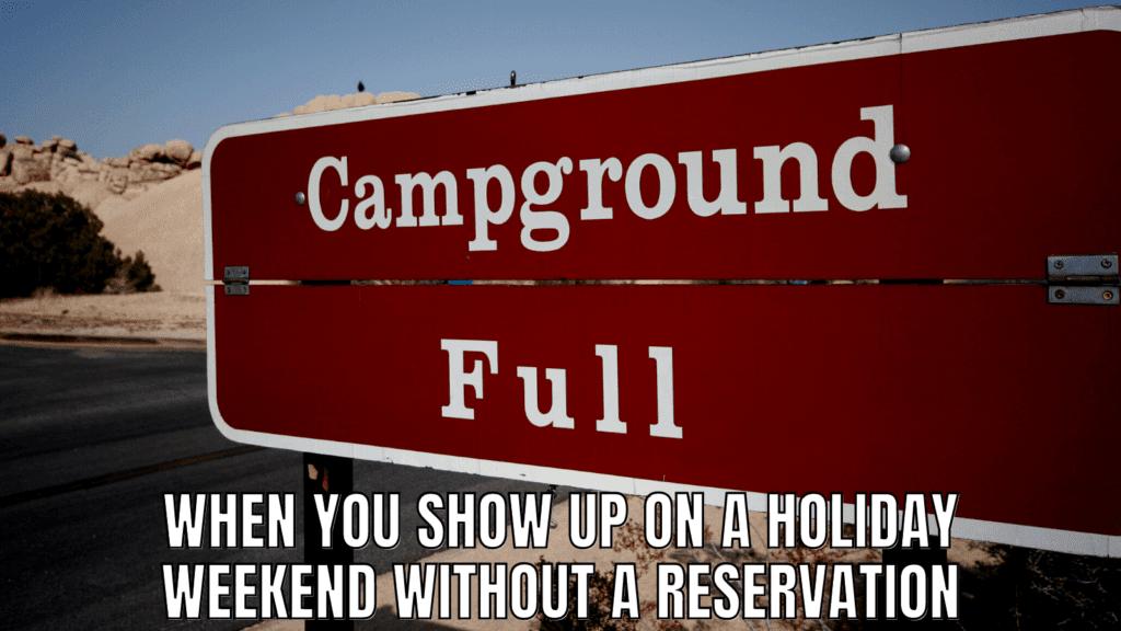 RV Memes: Campground Full