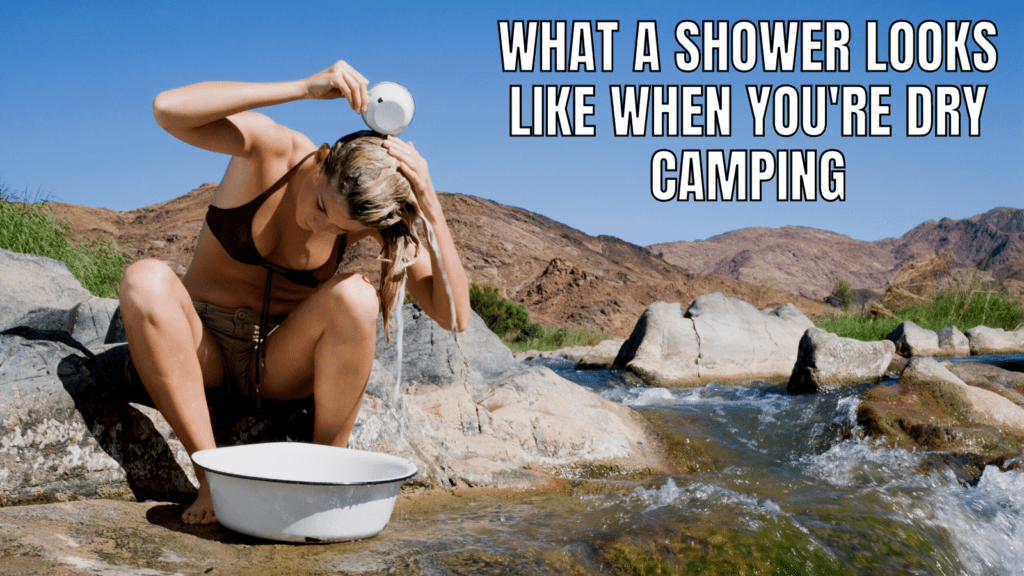 Funny RV Camping Memes: Dry Camping Shower