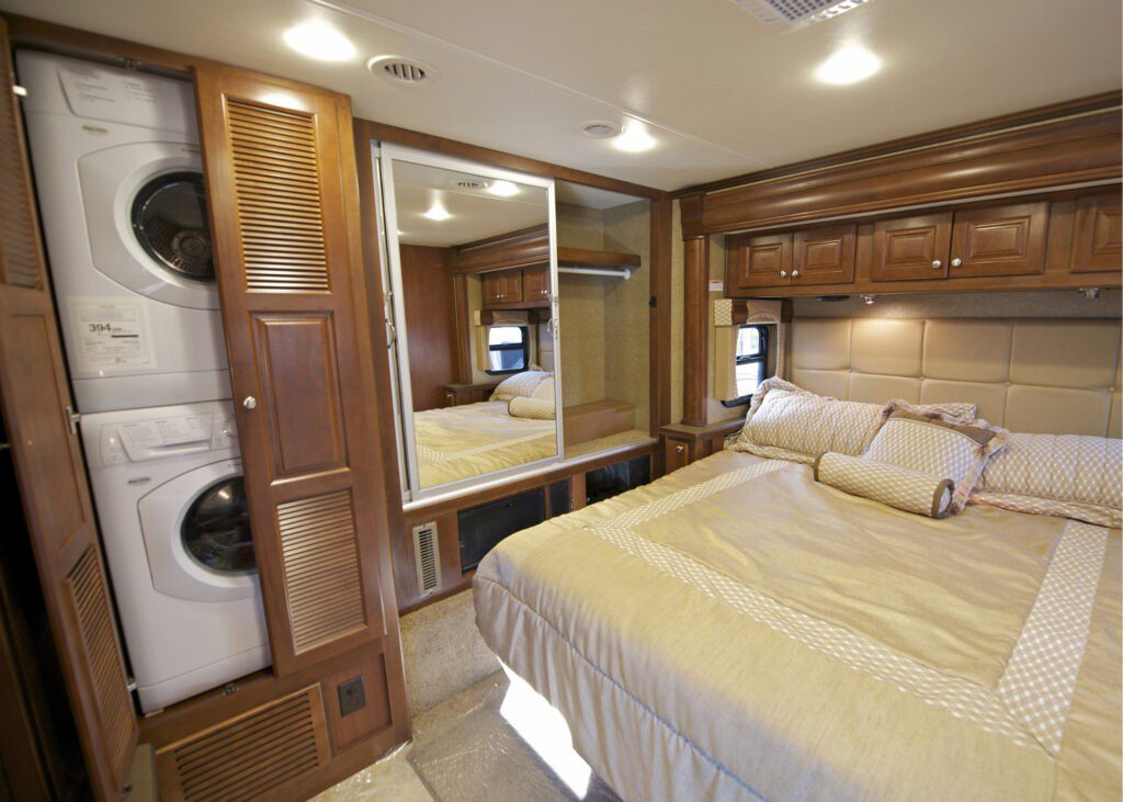 RV interior with features