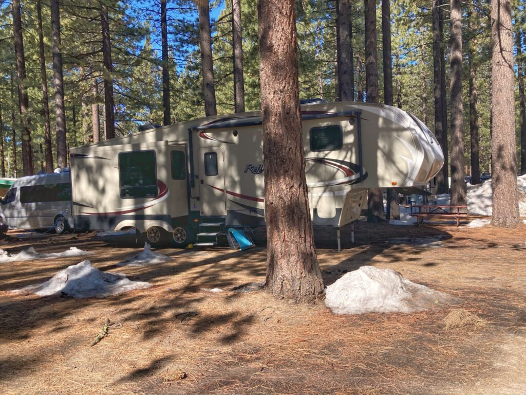 Campsite at Thousand Trails Lake Tahoe