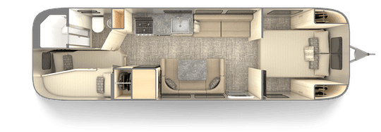 Travel Trailers with Two Queen Bedrooms: Flying Cloud
