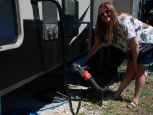 How to Winterize Your RV: Dump Tanks