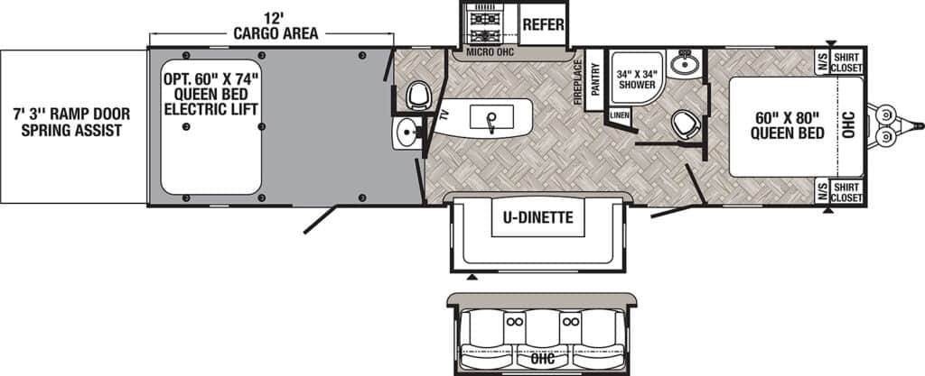 Travel Trailers with Two Queen Bedrooms: Puma 33THDS