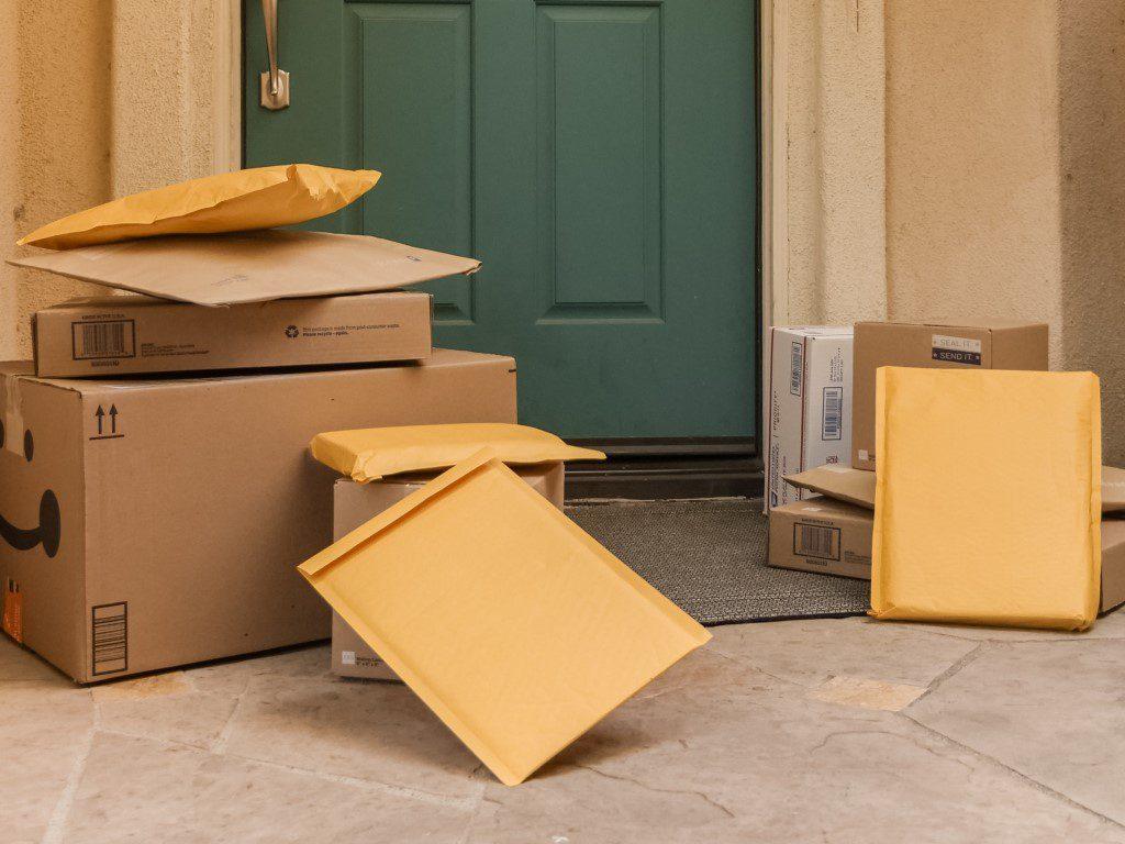 Packages on door step